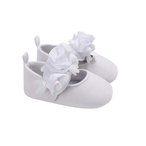 DEBAIJIA Baby Mädchen Prinzessin Schuhe Kleinkind Schöne Frühling Blume Weiche Sohle rutschfeste Baumwolle Mode Lässig Geeignet für 6-18 Monate Klettverschluss