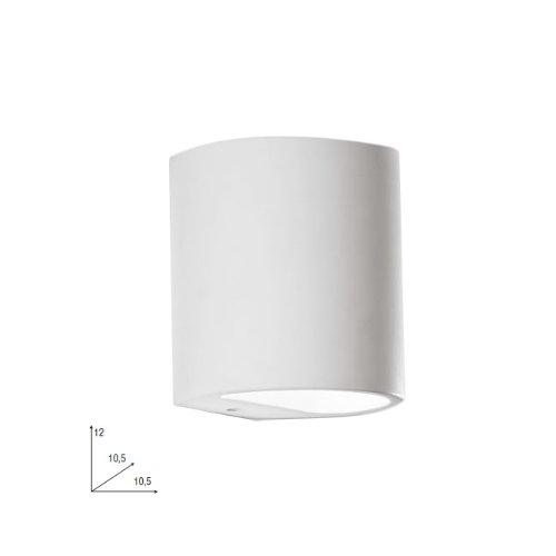 Applique con finiture in gesso lampada da parete moderna bianco 10x12.5 cm