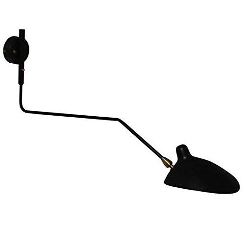 GOWE lámpara de pared Home luz industrial iluminación pantalla color: negro