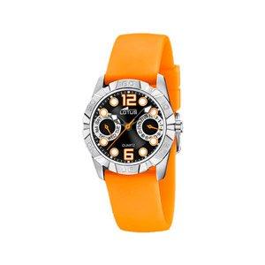 Lotus 15706-3 - Reloj analógico de cuarzo para mujer con correa de caucho, color naranja