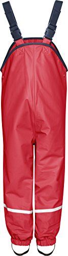 Playshoes Kinder Regen-Latzhose, Rot, 116