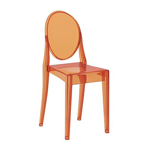 Kartell Victoria Ghost Chaise colorée 54 x 94 x 55 Centimeters Arancione