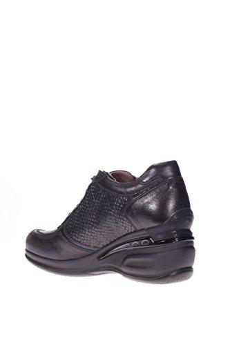 Noir jardins Femme Noué fonds caoutchouc a616070d-100Noué fond en caoutchouc de chaussures de sport 6cm Noir