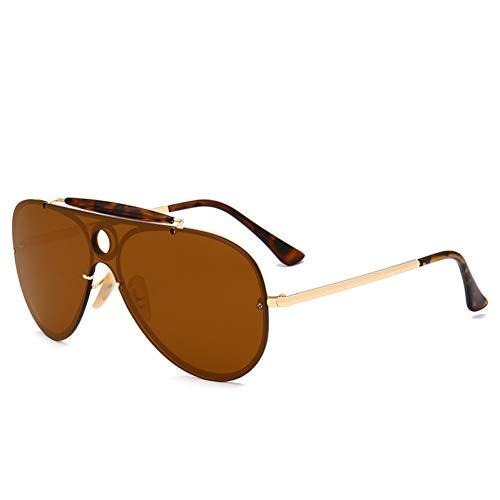 Yuanz Übergroße Pilot Sonnenbrille Frauen Uv400 Retro Markendesigner Big Frame Sonnenbrille Weibliche Damen Brillen,W