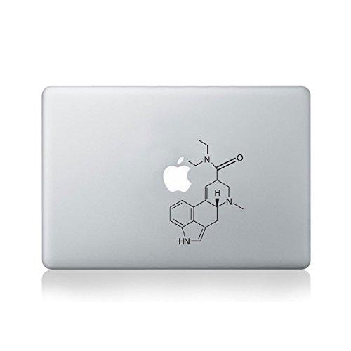 LSD Vinyl-Aufkleber für MacBook 33 cm (13 Zoll) / MacBook/Laptop/Gitarre (Molecular Structure of LSD) (Mac Vinyl Book Pro 13)