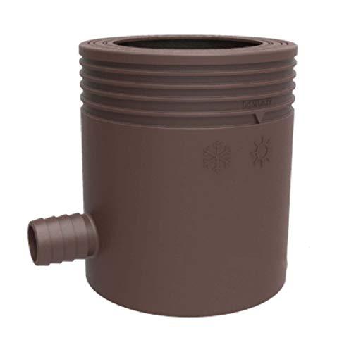Überlauf-filter (Marley Regensammler mit Filter und Überlaufstop, DN 53-75mm, braun)