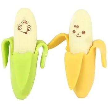 2pcs Novelty Banana Style Pencil Eraser Rubber Stationery Kid Toy by Fat-catz-copy-catz