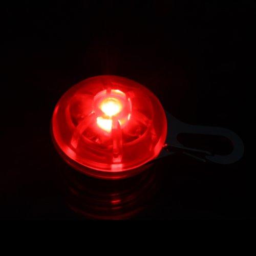 Zehui LED Hundeanhänger Blinklicht Halsbänder Licht Tierhalsband Leuchtanhänger Anhänger Rot - 2