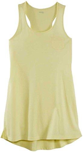 ESMARA® Damen Sommer Nachthemd, kurzarm Gelb