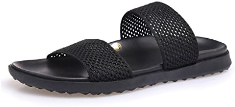 JIANXIN Sommer Mesh Fashion Wear Flip Flops Herren Trend Joker Hausschuhe Sandalen (Größe : EU 40/US 10/UK 8)