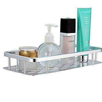 Alicemall Cesta Ducha de 2 Pisos Estantería del Cuarto de Baño para Pared Acero Aleación Baño Muebles de Baño