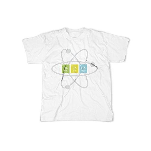 licaso Männer T-Shirt mit Aufdruck in Weiß Gr. XXL Chemie Element Sitcom Design Boy Top Jungs Shirt Herren Basic 100% Baumwolle Kurzarm