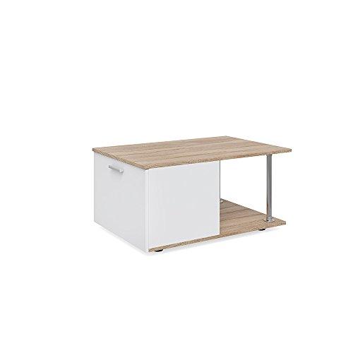 Preisvergleich Produktbild Vicco Couchtisch MARIO 90 x 60 cm - Wohnzimmertisch Beistelltisch Holztisch Kaffeetisch - 3 Farben zur Auswahl (weiß sonoma)
