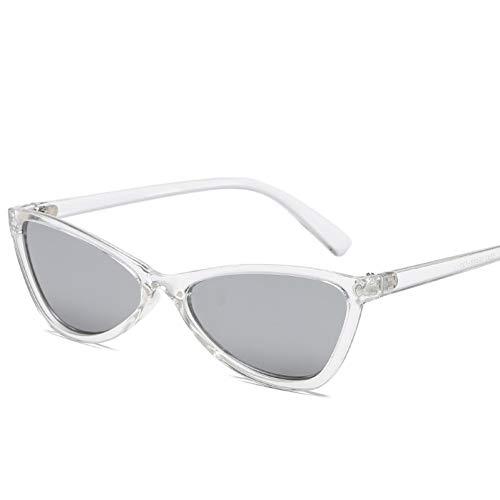GJYANJING Sonnenbrille Katzenauge Mode Sonnenbrille Hip-Hop SonnenbrillenFeind Frauen Sunglases Langlauf-Neue Sonnenbrille Metall Scharnier Dreieck