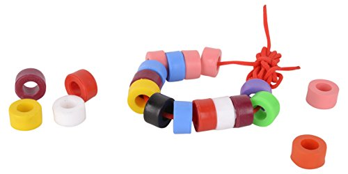 Skillofun Wooden Beads Set, Multi Color (50 Beads)
