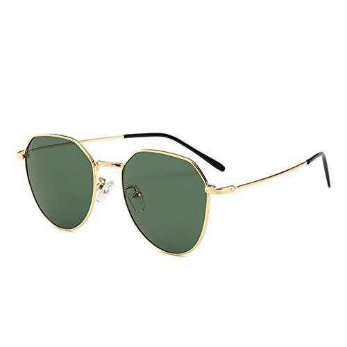 MJDABAOFA Sonnenbrillen,Neue Piloten Sonnenbrille Unisex Sonnenbrille Gold Frame Grüne Linse Brillenmode Shades Sonnenbrille Männer Frauen Brillen Uv400