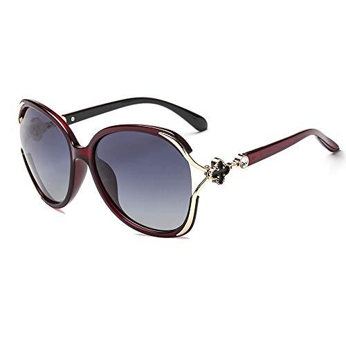 SNXIHES Sonnenbrillen Klassische Polarisierte Sonnenbrille Frauen Retro Stil Metall Großen Rahmen Sonnenbrille Berühmte Dame 2
