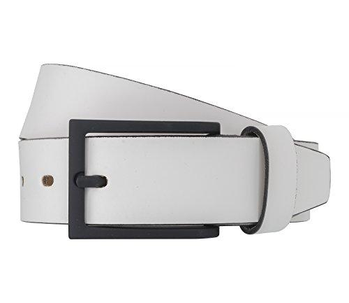 LLOYD Men's Belts Gürtel Herrengürtel Leder Weiß 6521, Länge:100, Farbe:Weiß
