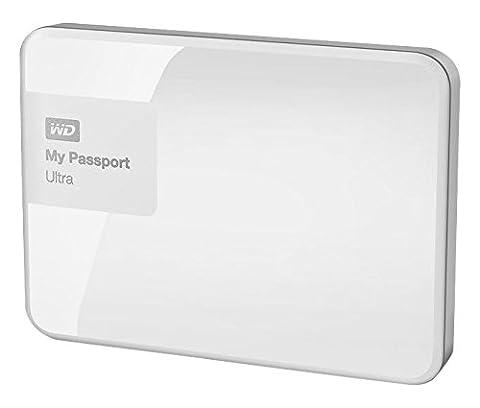 Western Digital My Passport Ultra 500 GB Externe Festplatte (USB 3.0) brillantweiß