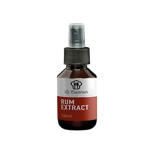 LE CUISINIER RUM I Rum Extrakt Spray 100ml I Geeignet als Backaroma, Tiramisu, Marinade oder einfach als Geschmacksbeigabe
