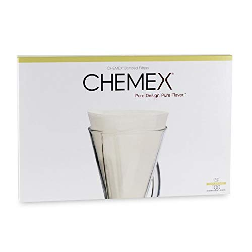Chemex FP-2 Papierfilter, Karton mit 100 Filtern - Für Chemex 3 Tassen