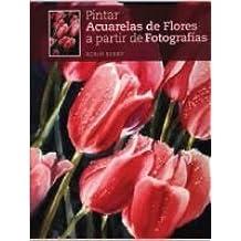 Pintar acuarelas de flores a partir de fotografías