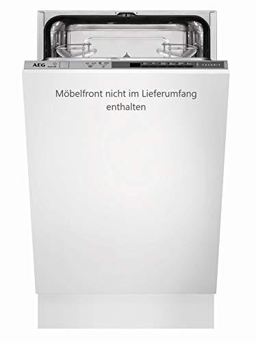 AEG FSB51400Z Vollintegrierter-Geschirrspüler / 45cm / AirDry - perfekte Trocknungsergebnisse / energiesparend / Besteckkorb / Glasprogramm / Beladungserkennung / Intensivprogramm / Kurzprogramm / St