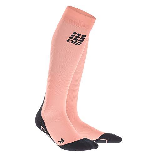 CEP - Compression Socks für Damen | Knielange Sportsocken mit Kompression in orange | Größe III -