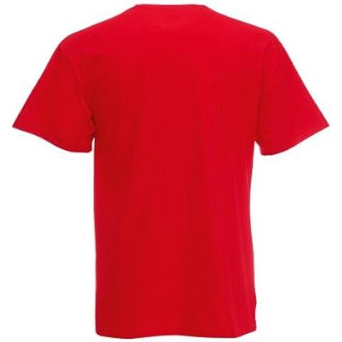 Fruit Of The Loom - Camiseta básica de manga corta para niño/niña unisex - 100% algodon de primera