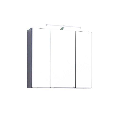 Bad Spiegelschrank mit 3D Effekt Anthrazit Breite 90 cm Pharao24 - 2
