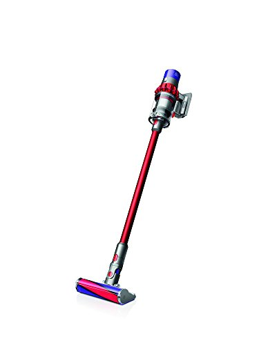 Dyson Cyclone V10 Fluffy sans sac 0.54L Nickel, rouge - Aspirateur balai sans sac, nickel, rouge, 0,54 L, étage, Cyclone, 85 dB)