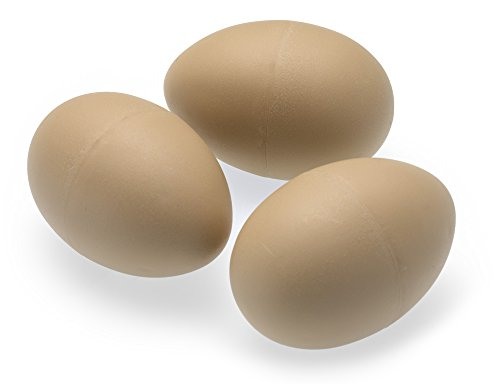 3 x Imitation Chicken/Poultry/HENS Eggs - Weighted to Feel Real - Plastic/Dummy/Fake/Egg/Free Range China Ei
