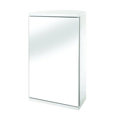eckschrank mit spiegel Croydex Spiegel-Eckschrank mit Tür, MDF, FSC-zertifiziert, weiß