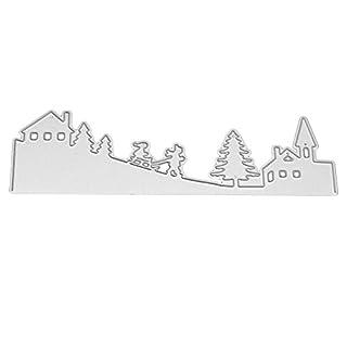 Amazingdeal365 Hof DIY Metall Form Stanzschablonen Schablonen Schneiden DIY Dekor Sammelalbum Karten Buchzeichen Lesezeichen als Geschenk für Freunde Geburtstag Kinder,Kindergarten Hobby Schule Handarbeit Unterricht usw. Ein tolles Geschenk!