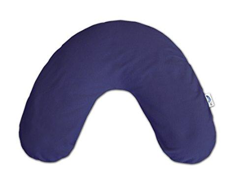 Preisvergleich Produktbild Theraline 04012502 Nackenkissen inklusive Bezug, klein 85 x 19 cm, jersey dunkelblau