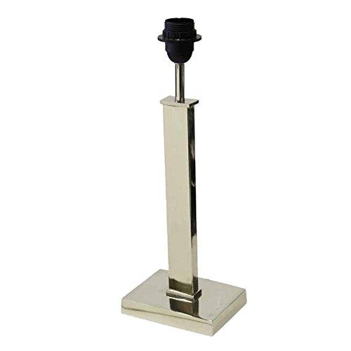Better & Best 1222243 - Lámpara de mesa con peana rectangular baja, tubo cuadrado, color plateado