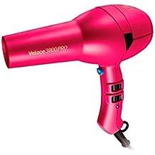 Diva Professional Veloce 3800 Pro Pink Diva - Secador profesional, motor AC de larga vida y boquilla estrecha profesional, color rosa