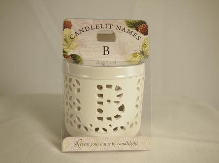 History & Heraldry Candlelit Names - B - Tea Light Lite Candle 001850032-HH by History & Heraldry