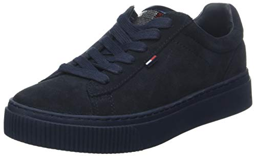 Hilfiger Denim Damen Big Flag Sparkle Star Sneaker, Blau (Midnight 403), 39 EU