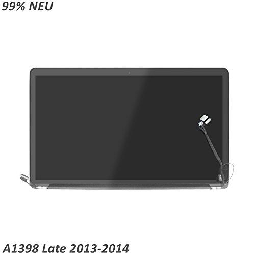 LCDOLED 15.4 zoll LED LCD Display komplett Assembly+Gehäuse Ersatzteil für Apple MacBook Pro Retina 15 A1398 mid 2014 late 2013 (Macbook Pro Lcd Display)