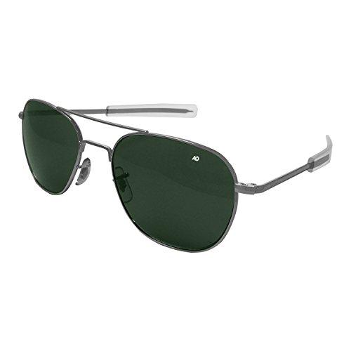American Optical Original Pilot Bajonett 52mm Chrom matt TC grün Sonnenbrille