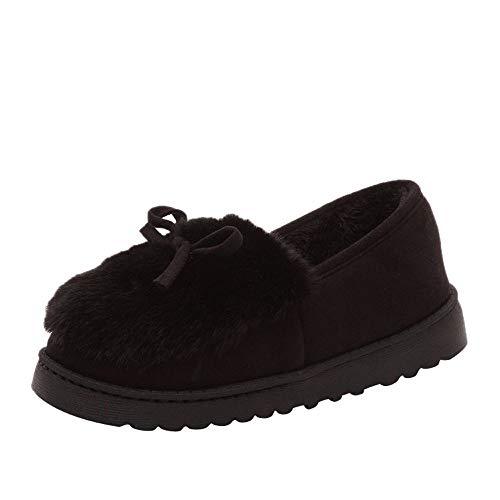 Yazidan Mode Frau Bogen Niedrig Schnitt Schuhe Eben Unterseite Unterhose Plus Samt Schnee Stiefel...