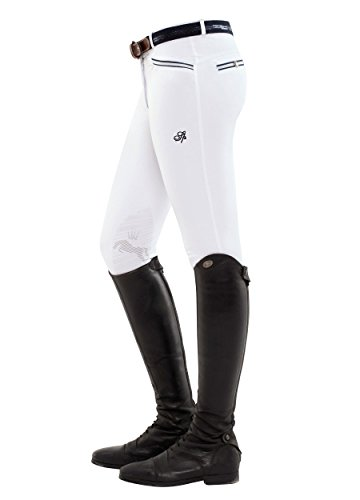 SPOOKS Damen Reithose Kniebesatz, Damenreithose Reithosen Turnierreithose Kniebesatzreithose Reiterhosen – Ricarda Knee…