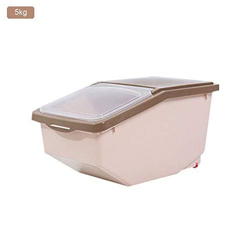 Dadahuam contenedor de Almacenamiento de Alimentos, 5 kg 10 kg 15 kg dispensador de Cereales de Gran Capacidad, Caja sellada para Alimentos para Mascotas, arroz, Granos, Frijoles