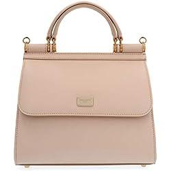 Dolce E Gabbana Mujer Bb6622av38580412 Rosa Cuero Bolso De Mano