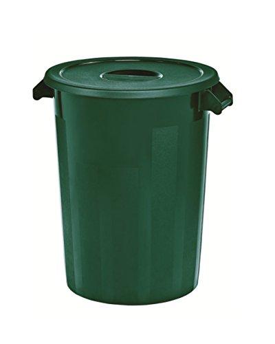 Kerafactum Großer Lagerbehälter Lager Futtertonne Behälter Tonne Zutatenbehälter mit Deckel universal aus Kunststoff grün 100 Ltr. Lagertonne farblich erweiterbar ingredients storage container