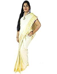d29c0b1015 VFCollections - Kanchipuram Pattu Silk Bridal Saree - Butta With Blouse  Piece For Women