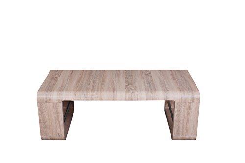 Couchtisch Wohnzimmertisch Tisch Sonoma Eiche Dekor in Länge verstellbar + abgerundete Kanten IDA A