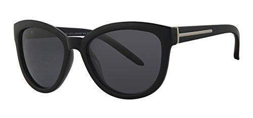 Eyewear World Polarisierte Katzenaugen-Sonnenbrille, inkl. Tasche und gelbem Halsband, blendende Gläser