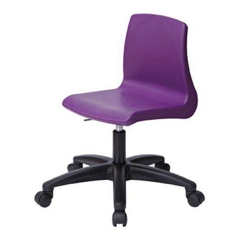 Metalliform Np5adj-ccg-purple Fauteuil pivotant avec base chromèe/gaz Lift et roulettes, Violet